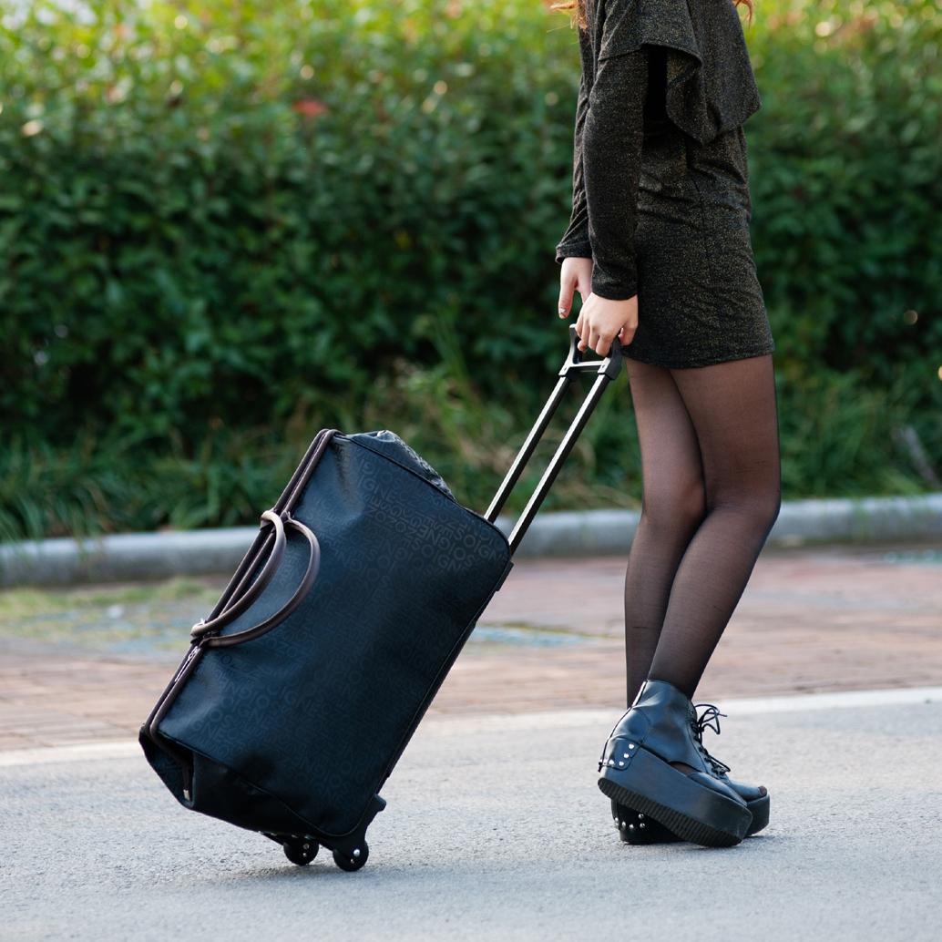 彭丽媛手提包 学生拉杆包女大容量大拉杆袋旅行包旅行袋手提包拖拉包行李包男潮_推荐淘宝好看的女手提包