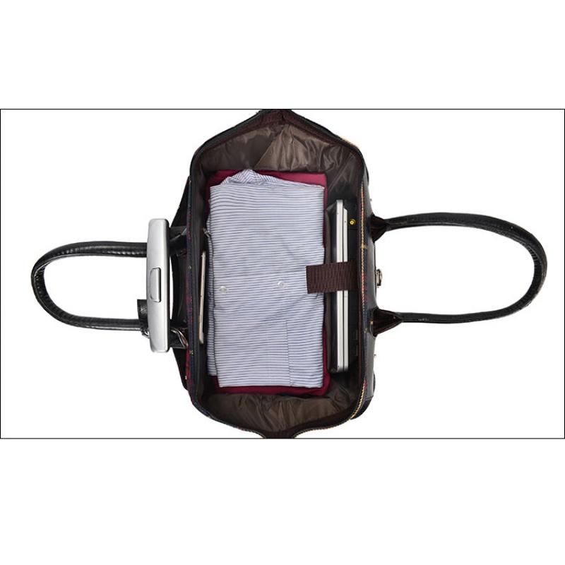 女式英伦手提包 20寸登机防水英伦手提万向轮拉杆包旅行箱包短途行李袋拉杆箱女包_推荐淘宝好看的女英伦手提包