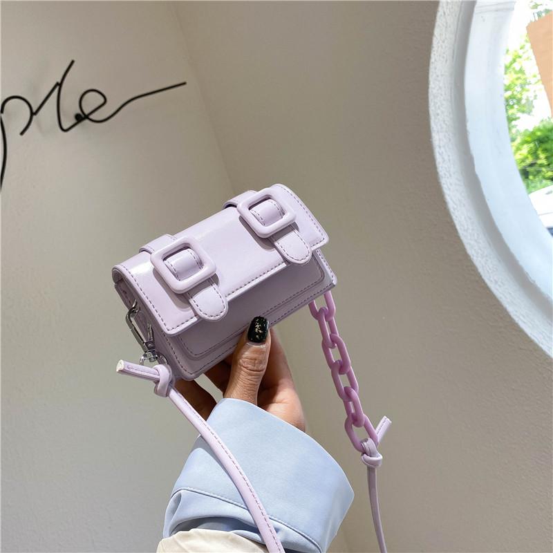 紫色糖果包 2020春夏百搭小包包迷你时尚洋气包包单肩包斜跨包糖果色女包潮包_推荐淘宝好看的紫色糖果包