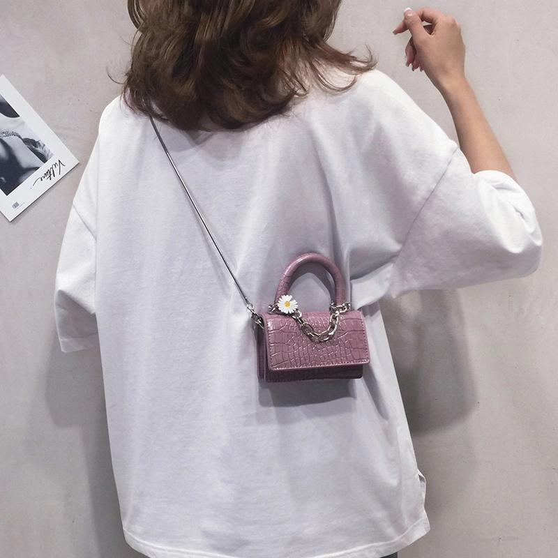 紫色斜挎包 迷你包包女2021新款高级感紫色手提小方包个性链条百搭单肩斜挎包_推荐淘宝好看的紫色斜挎包