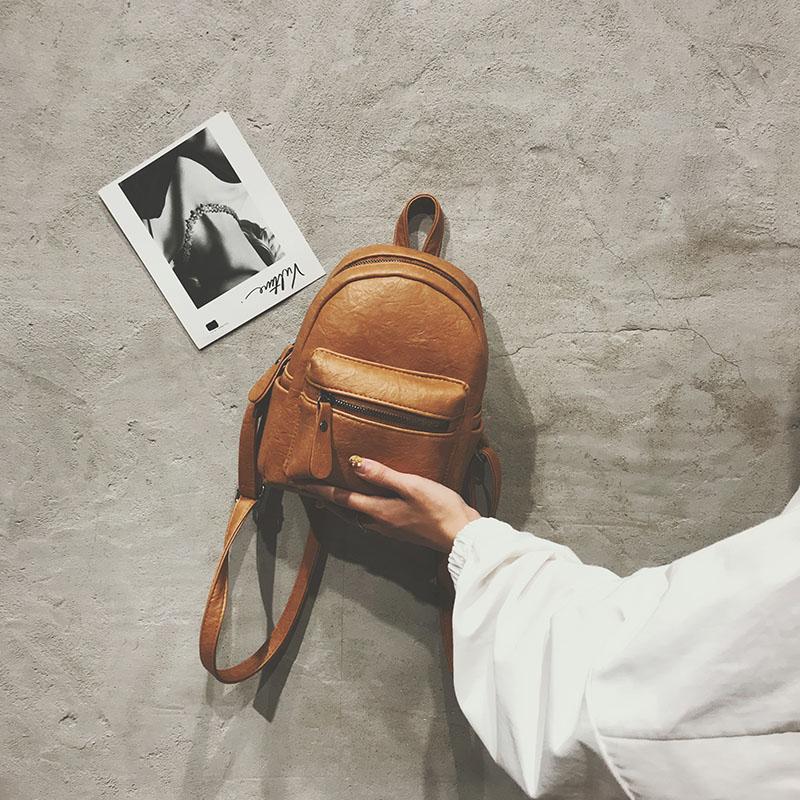 白色迷你包 迷你双肩包女小包2019新款时尚小背包女学生ins超火的百搭复古潮_推荐淘宝好看的白色迷你包