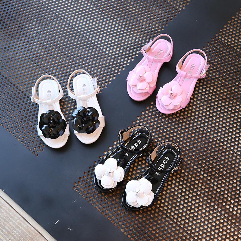 粉红色凉鞋 清仓童鞋夏季韩版宝宝鞋黑色女童凉鞋儿童鞋子粉红色公主鞋中大童_推荐淘宝好看的粉红色凉鞋
