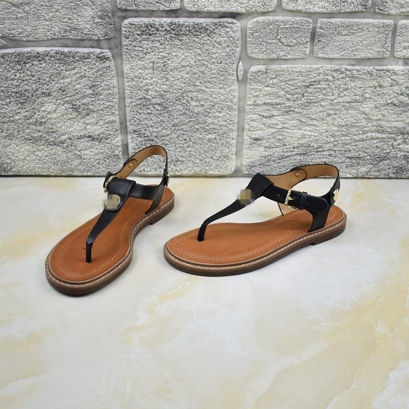 女式平底鞋 外贸女鞋平底舒适出口美国原单简约纯色百搭夹趾凉鞋度假风_推荐淘宝好看的女平底鞋