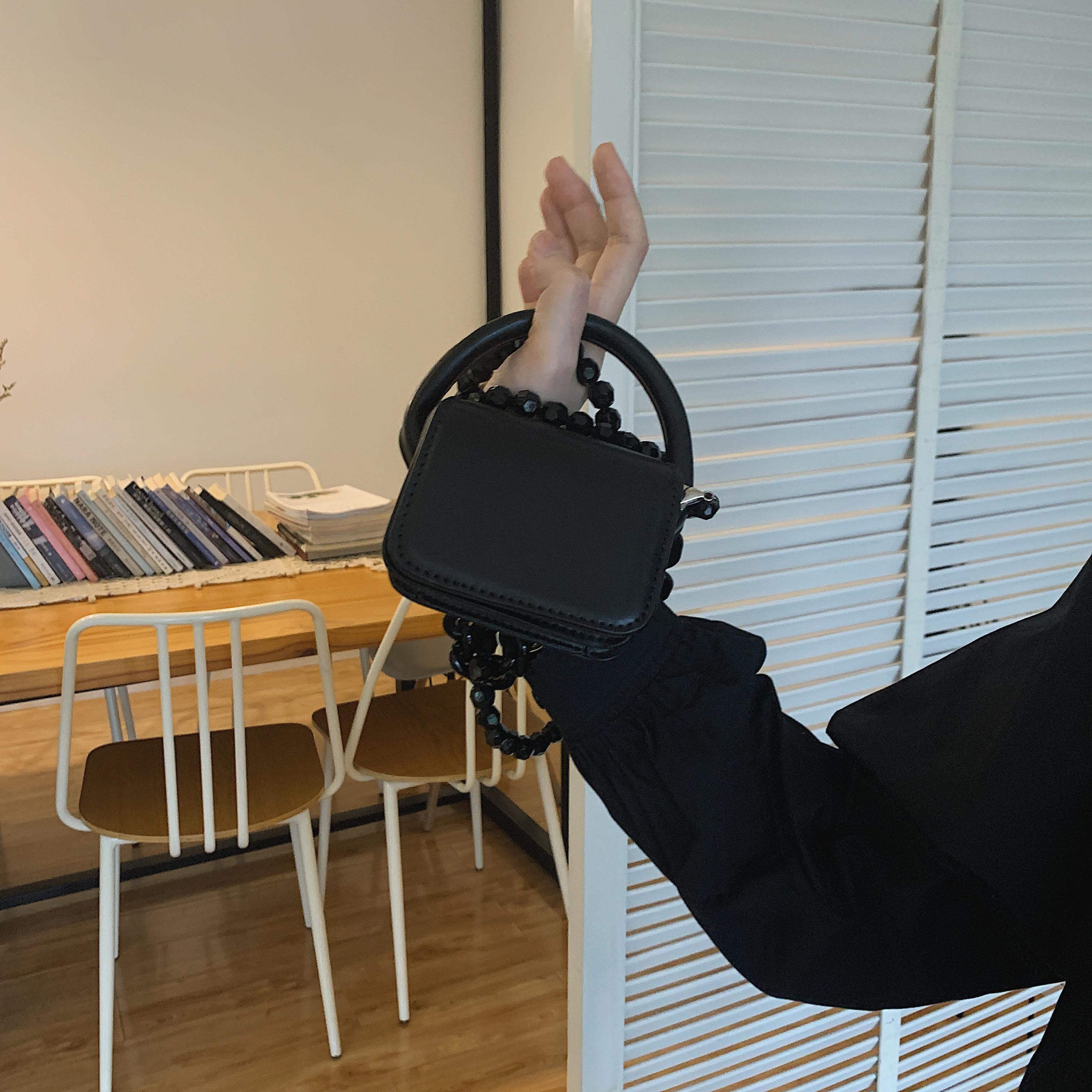 黑色迷你包 切咔 ins迷你小包包黑色小方包链条包手拎包手提包斜挎包单肩包女_推荐淘宝好看的黑色迷你包