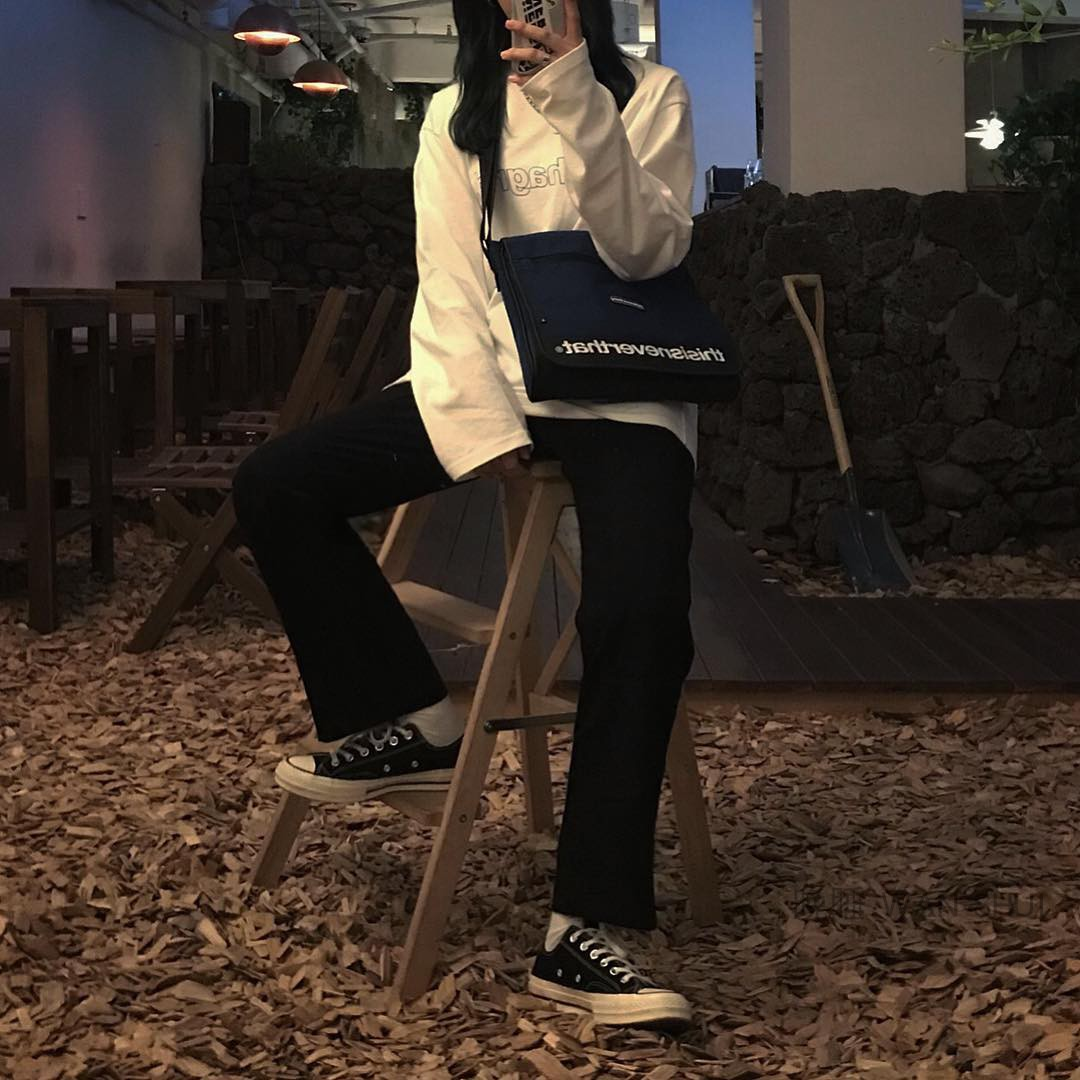 长袖女衬衫 韩国ins超火宽松mahgrid字母印花百搭长袖打底情侣T恤衫男女上衣_推荐淘宝好看的女长袖女衬衫