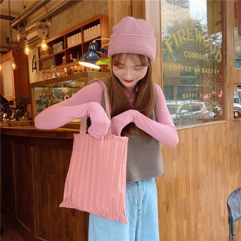 糖果色时尚手提包 橡果雨泰国原创同款手工褶皱手提包单肩水桶包女糖果色_推荐淘宝好看的女糖果色手提包