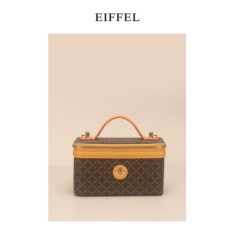 印花手提包 LA TOUR EIFFEL 1887女士经典印花单肩手提斜挎包 化妆箱 盒子包_推荐淘宝好看的女印花手提包