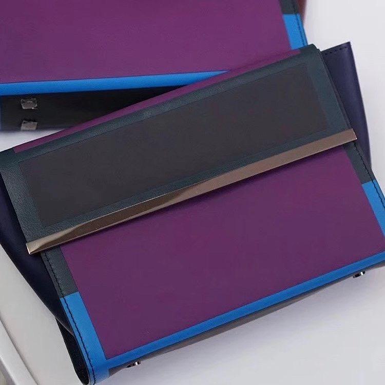 紫色信封包 GGLISTER新款信封包原D设计紫色个性牛皮手拿包真皮简约化妆包女_推荐淘宝好看的紫色信封包