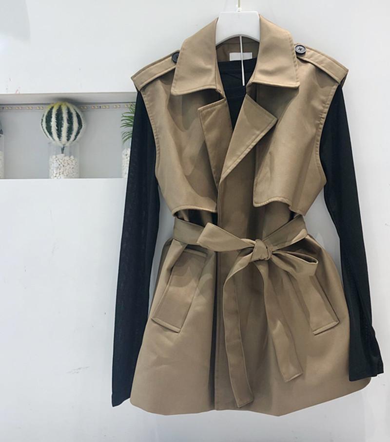 外套 东大门新款绑带收腰西装领无袖马夹外套女韩版宽松显瘦外穿+打底_推荐淘宝好看的女外套