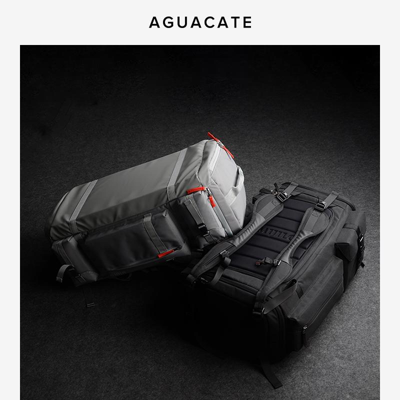 运动双肩包 AGUACATE大容量 双肩背包干湿分离健身包男女运动旅行包滑雪包55L_推荐淘宝好看的女运动双肩包