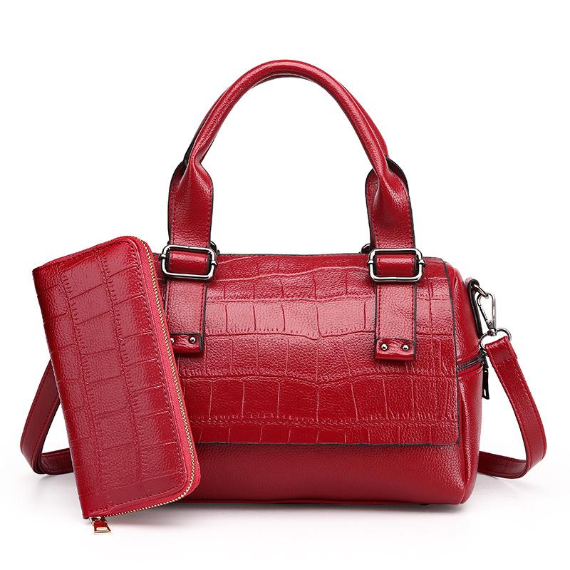 红色手拿包 新款女包欧美时尚单肩斜挎手提包黑色粉红色手机袋手拿包女士包袋_推荐淘宝好看的红色手拿包