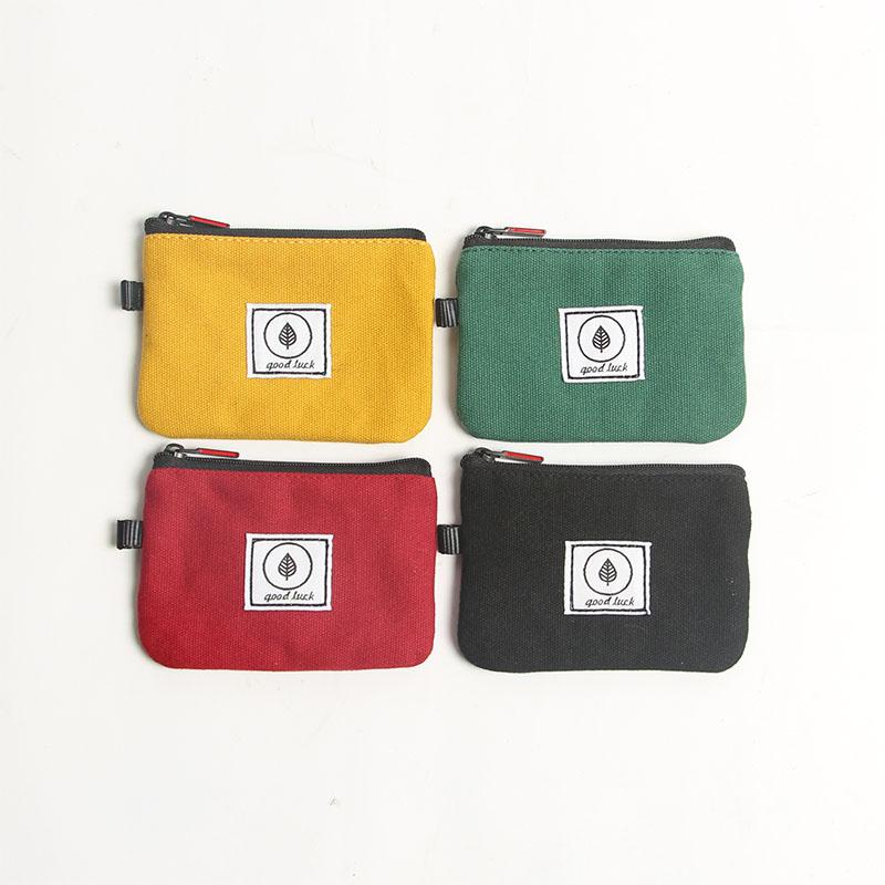 黄色钱包 超薄原创设计卡包钱包一体小巧可爱帆布简约零钱包男女个性拉链_推荐淘宝好看的黄色钱包