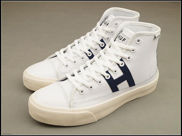 白色高帮鞋 外贸原单huf hupper 2 hi白色光面牛皮高帮滑板鞋小白鞋男鞋女鞋_推荐淘宝好看的白色高帮鞋