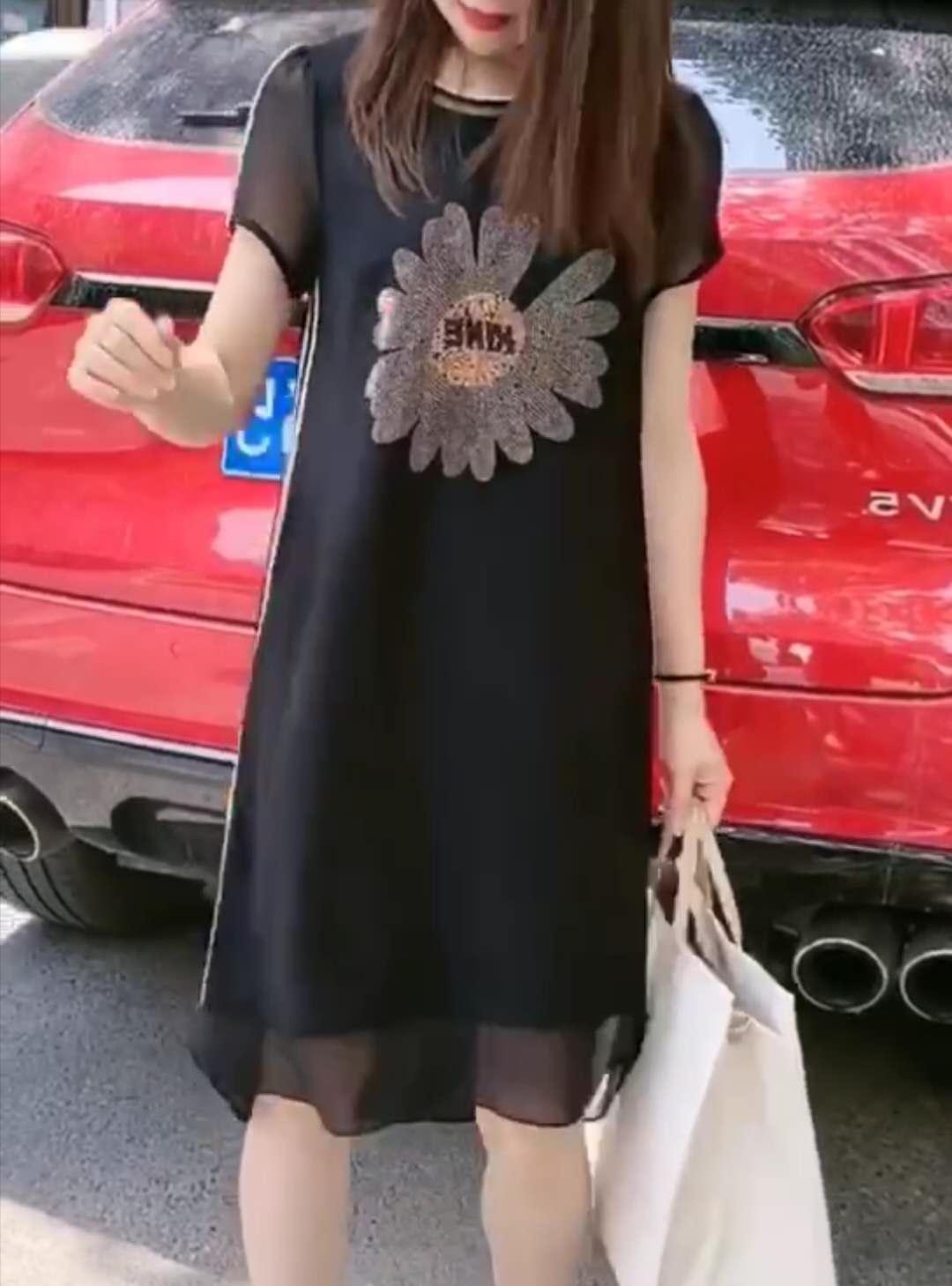 女士修身连衣裙 2020年夏季新款韩版修身洋气显瘦时尚连衣裙02HGFFFG_推荐淘宝好看的修身连衣裙