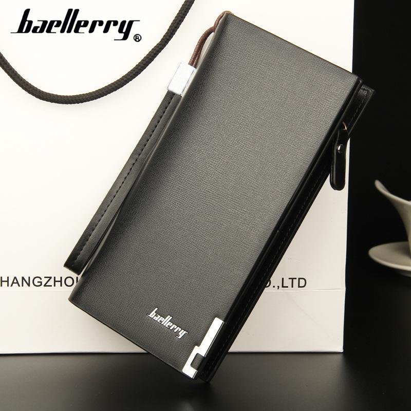 黑色钱包 【baellerry】新款时尚长款钱包男士多功能拉链手拿包欧美男卡包_推荐淘宝好看的黑色钱包