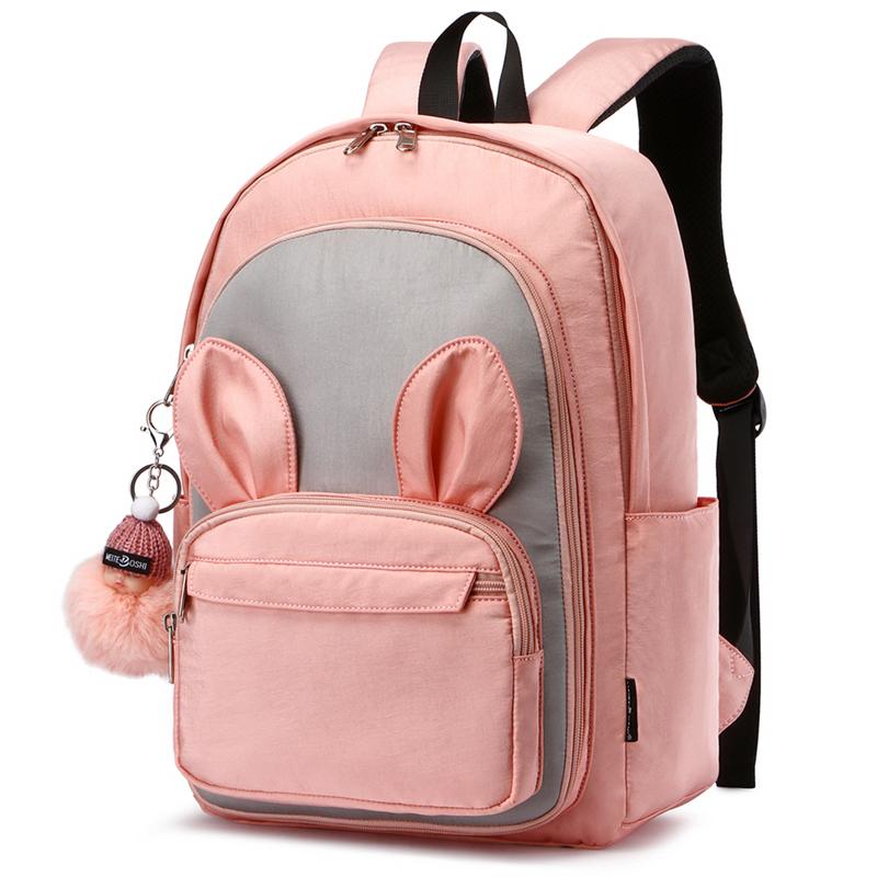 粉红色双肩包 韩版可爱小学生书包三到六年级女童双肩包超轻便大容量儿童书包五_推荐淘宝好看的粉红色双肩包