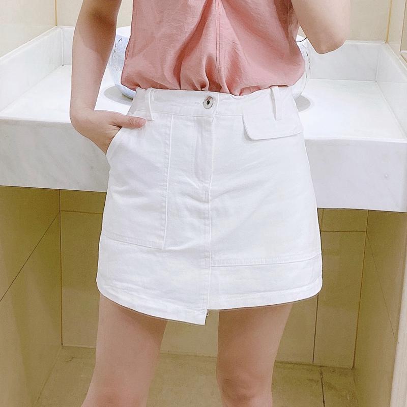 半身裙 白色半身裙女短裙夏季新款裙子修身显瘦不规则裙裤高腰包臀裙a字_推荐淘宝好看的半身裙