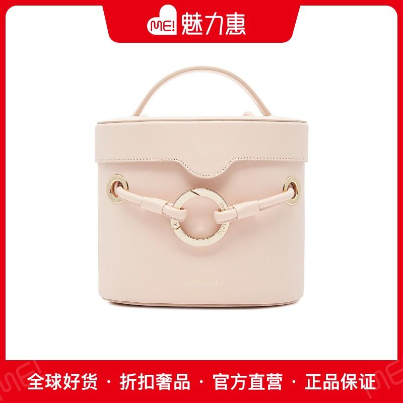 粉红色水桶包 MELI MELO美丽美洛 经典款Nancy系列粉红色牛皮抽绳饰水桶包女包_推荐淘宝好看的粉红色水桶包