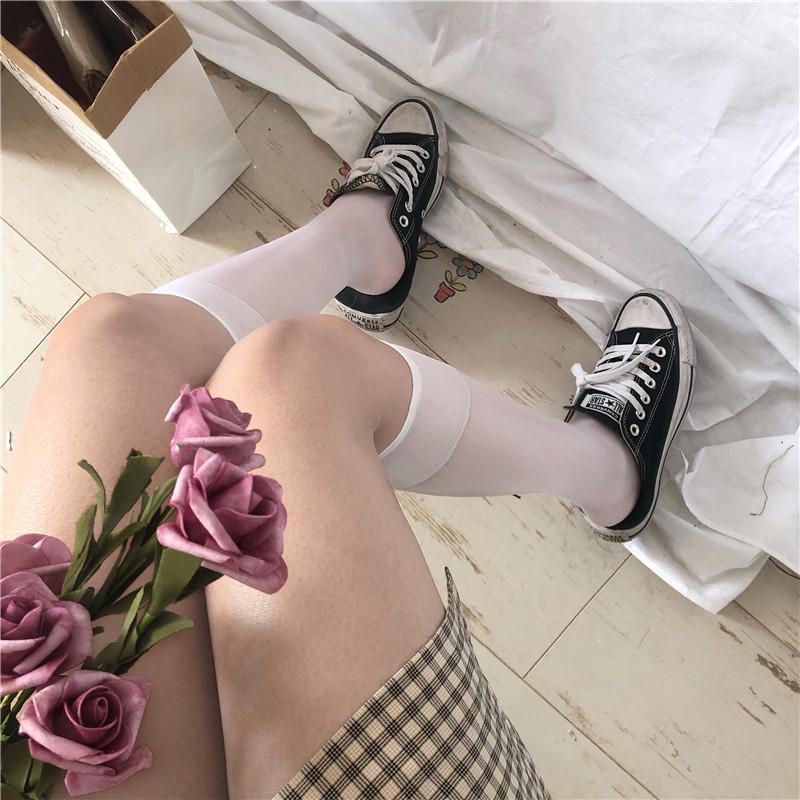 制服丝袜 袜子女夏季长袜丝袜女薄款ins潮防勾丝小腿袜jk制服lolita半截袜_推荐淘宝好看的制服丝袜