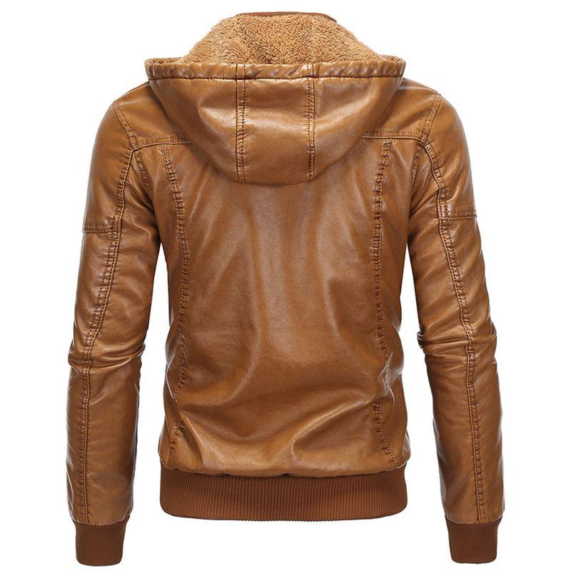 黄色皮衣 jacket Men's leather coat 皮衣青年下摆立领流行拉链休闲黄色_推荐淘宝好看的黄色皮衣