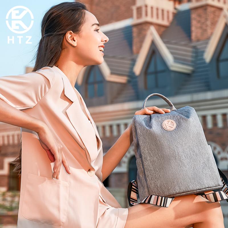 旅行帆布包 双肩包帆布女2021新款女士帆布袋背包大容量多功能时尚旅行女背包_推荐淘宝好看的女旅行帆布包