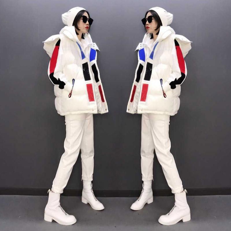 白色马甲 欧洲站女装2020年新款白色羽绒马甲女秋冬外穿百搭时尚外套欧货潮_推荐淘宝好看的白色马甲