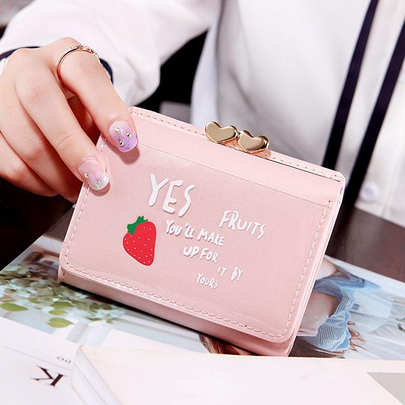 钱包 钱包短款女士卡包钱夹小钱包少女学生儿童可爱多功能三折叠零钱包_推荐淘宝好看的女钱包