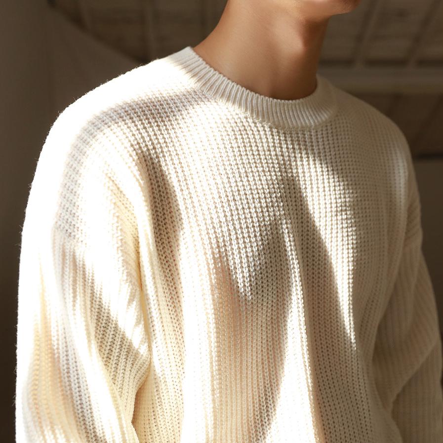 男士毛衣 MRCYC男毛衣针织衫秋冬小清新打底衫套头圆领日系休闲保暖毛衫_推荐淘宝好看的男士毛衣