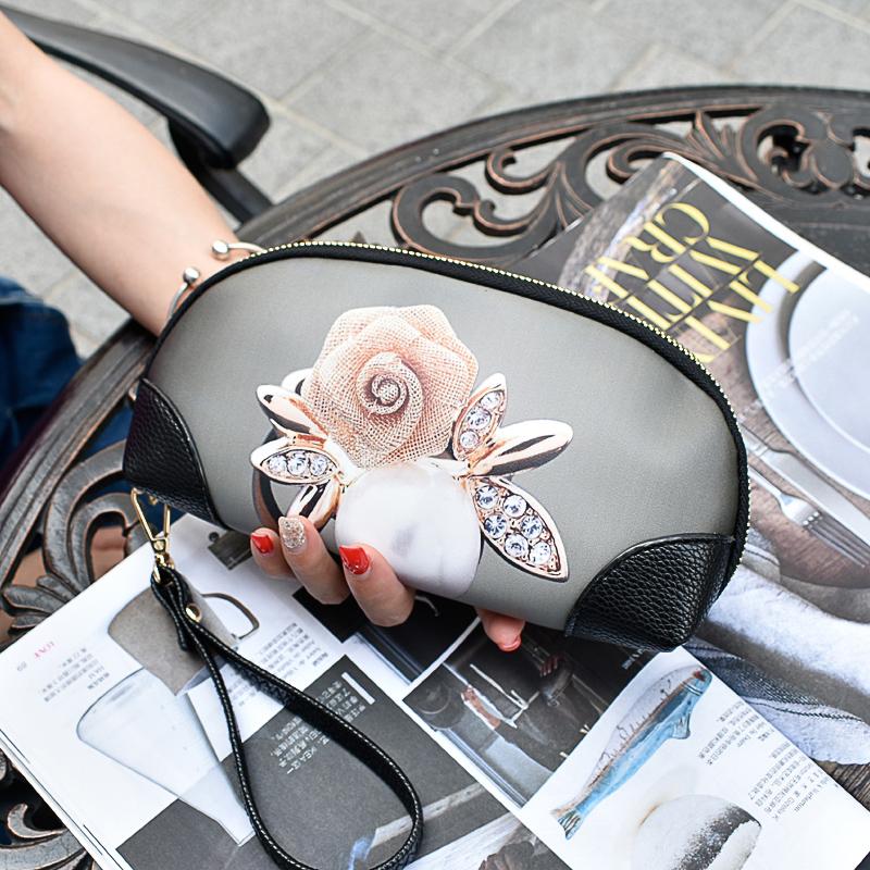 韩版手拿包 潮牌新款彩绘女手拿包大容量涂鸦手抓包韩版印花手机贝壳小包钱包_推荐淘宝好看的女韩版手拿包