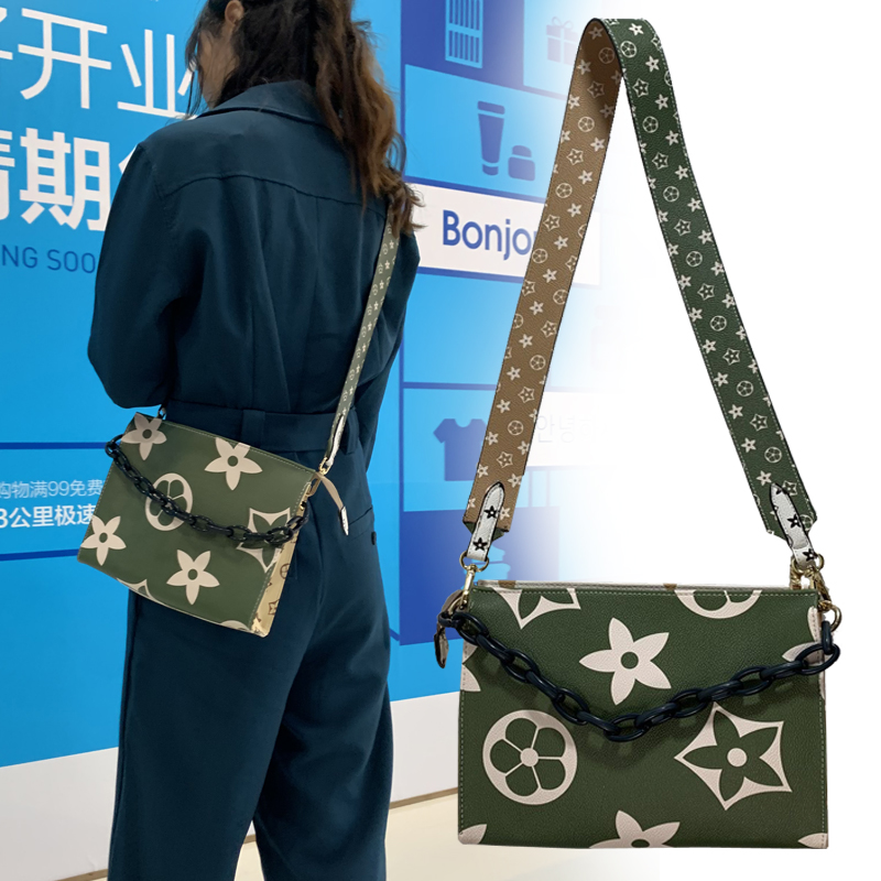 绿色手提包 2020包包网红绿色小方包压花拼色双面包欧美时尚单肩斜挎手提女包_推荐淘宝好看的绿色手提包