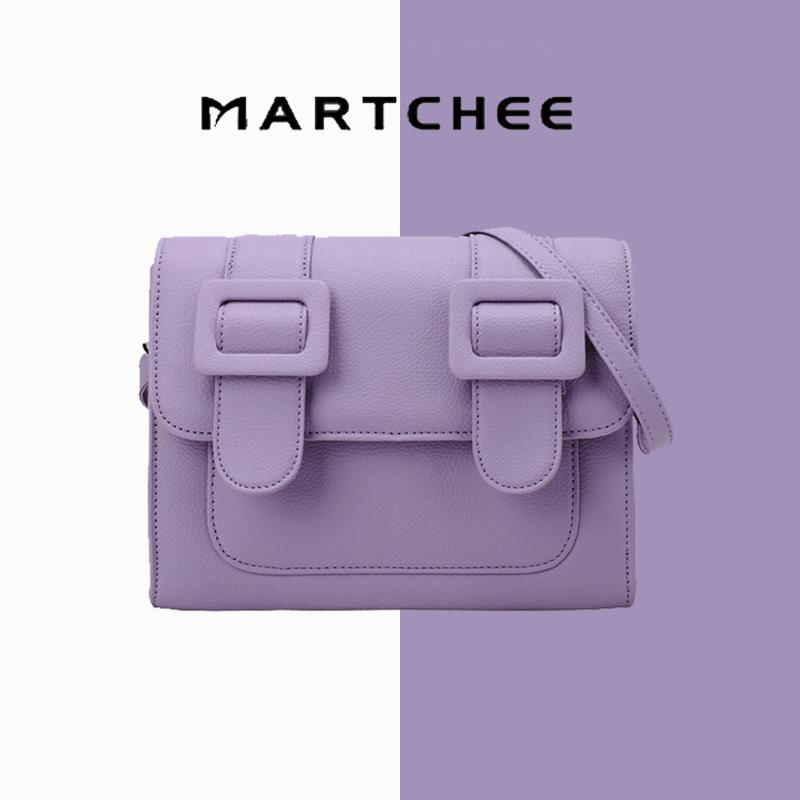 紫色邮差包 紫色马卡龙邮差斜跨包包女夏休闲2021新款潮同款_推荐淘宝好看的紫色邮差包