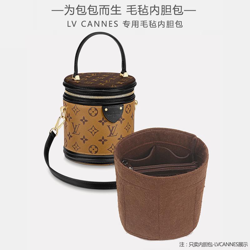 lv水桶包 适用于Lv cannes圆筒包内胆包饭桶包内整理收纳包水桶包中包内袋_推荐淘宝好看的lv水桶包