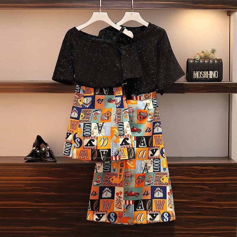 大码连衣裙 单件套装女夏时尚2020新款大码女装气质显瘦连衣裙遮肚两件套潮_推荐淘宝好看的大码连衣裙