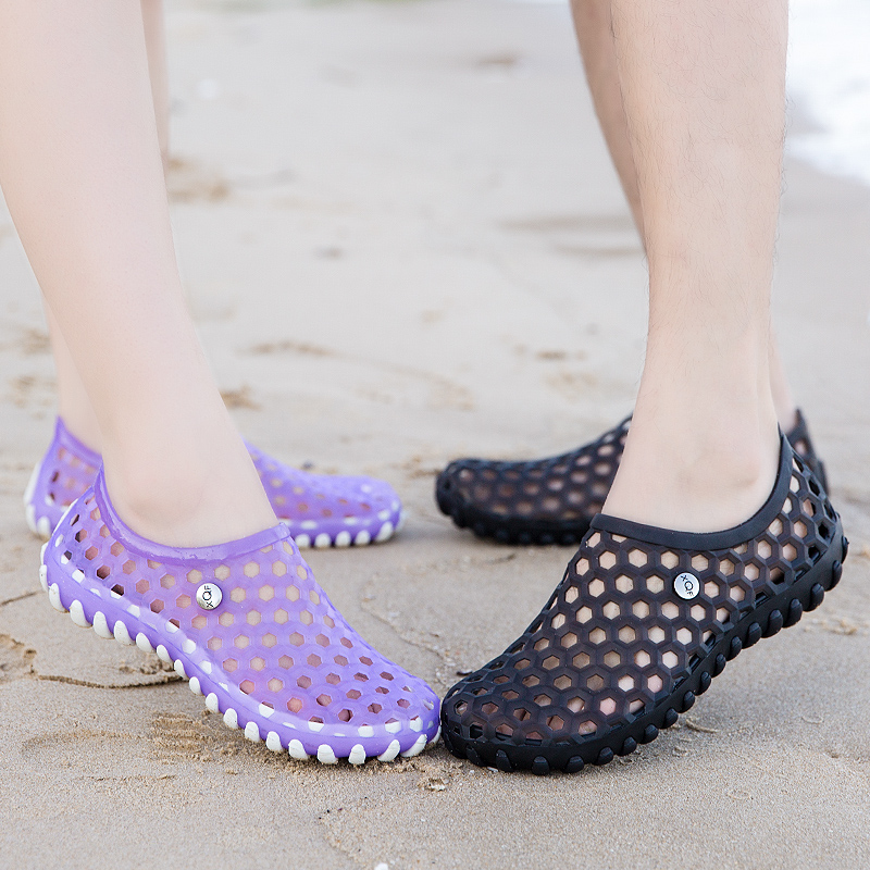 洞洞鞋 夏季涉水鞋速干沙滩鞋洞洞鞋女防滑套脚凉鞋去度假海边外穿可下水_推荐淘宝好看的女洞洞鞋