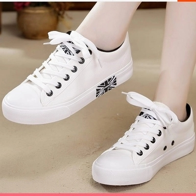 帆布鞋 大码女鞋夏季41-43新款肥脚 韩版百搭球鞋 女生小白鞋 白色帆布鞋_推荐淘宝好看的女帆布鞋