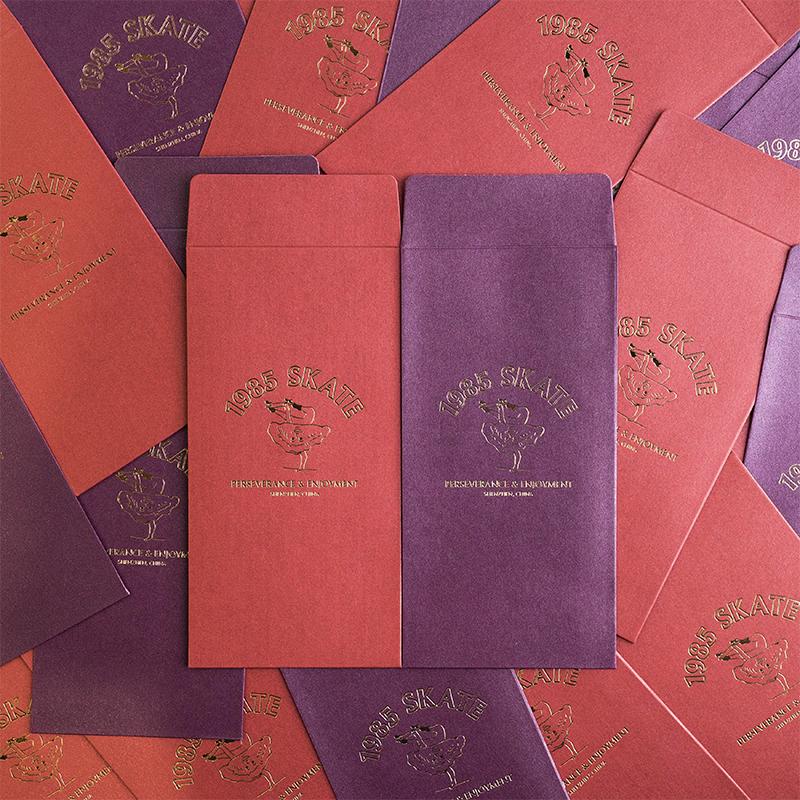 紫色信封包 1985限量红包利是封情书信封红色紫色 1985滑板_推荐淘宝好看的紫色信封包