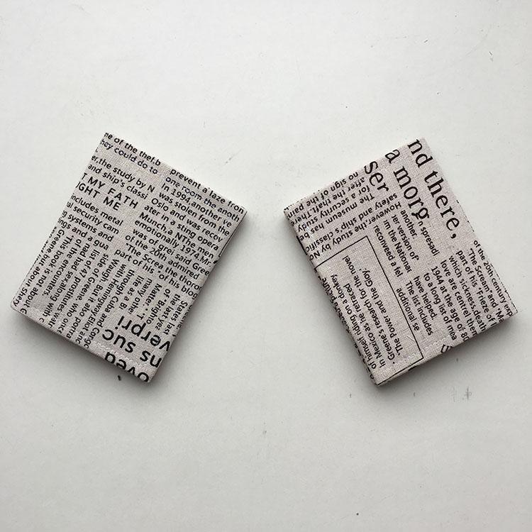 香奈儿复古包 原创日式男女式短款手工布艺钱包复古个性报纸森系钱夹礼物包邮_推荐淘宝好看的女香奈儿复古包