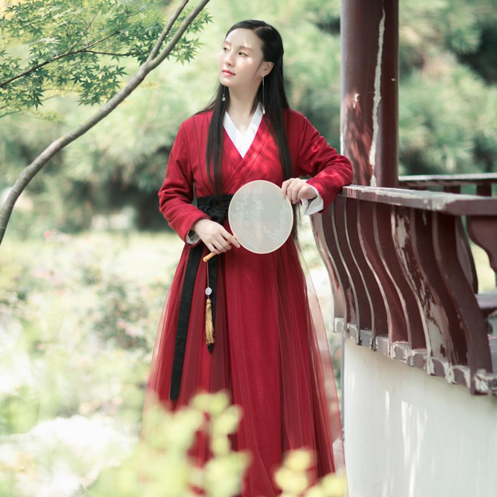 红色风衣 棉麻记国风红色开衫2020早春季新款复古改良汉服百搭风衣外套女装_推荐淘宝好看的红色风衣