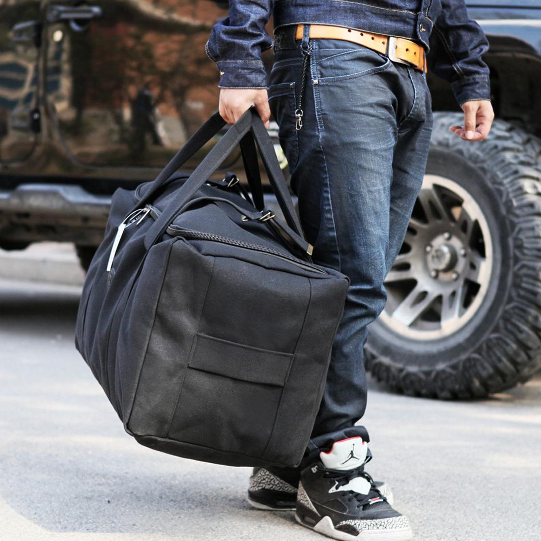 帆布大包包 超大容量行李袋手提旅行包男加厚帆布搬家包旅游袋女待产包行李包_推荐淘宝好看的女帆布大包包