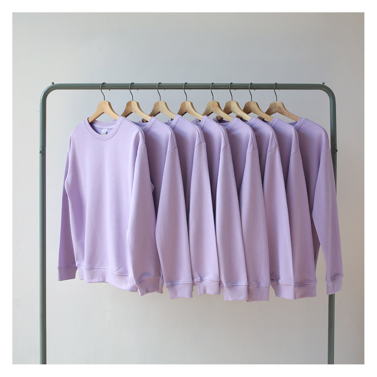 紫色卫衣 2020春季新款薄款毛圈 香芋紫 浅紫色 圆领卫衣男 女bf风情侣宽松_推荐淘宝好看的紫色卫衣