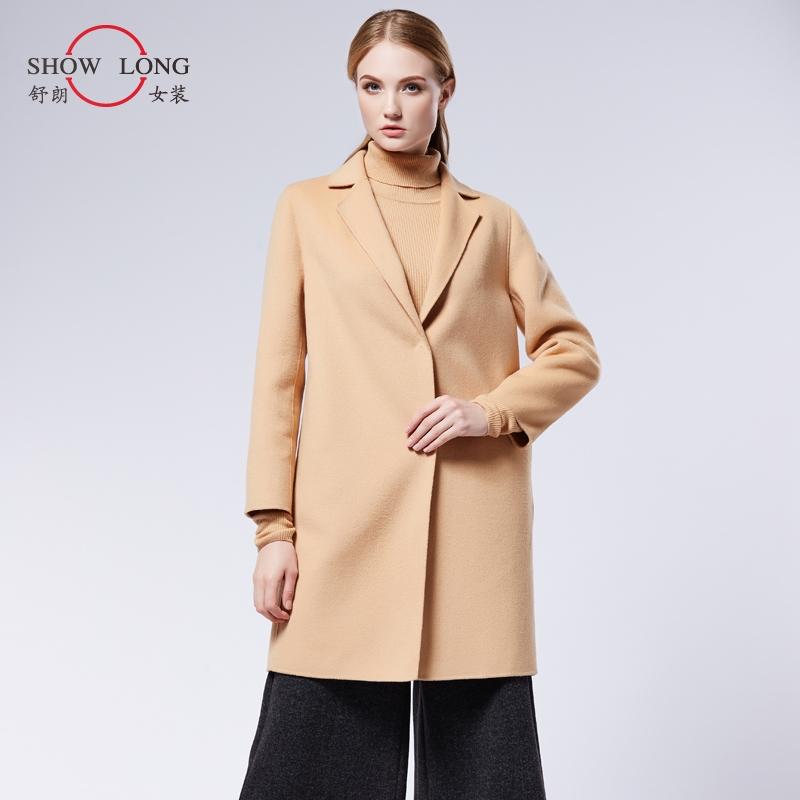 时尚冬装 舒朗 冬装新款时尚宽松双面呢大衣女士羊毛呢子外套 DSF4H35_推荐淘宝好看的时尚冬装