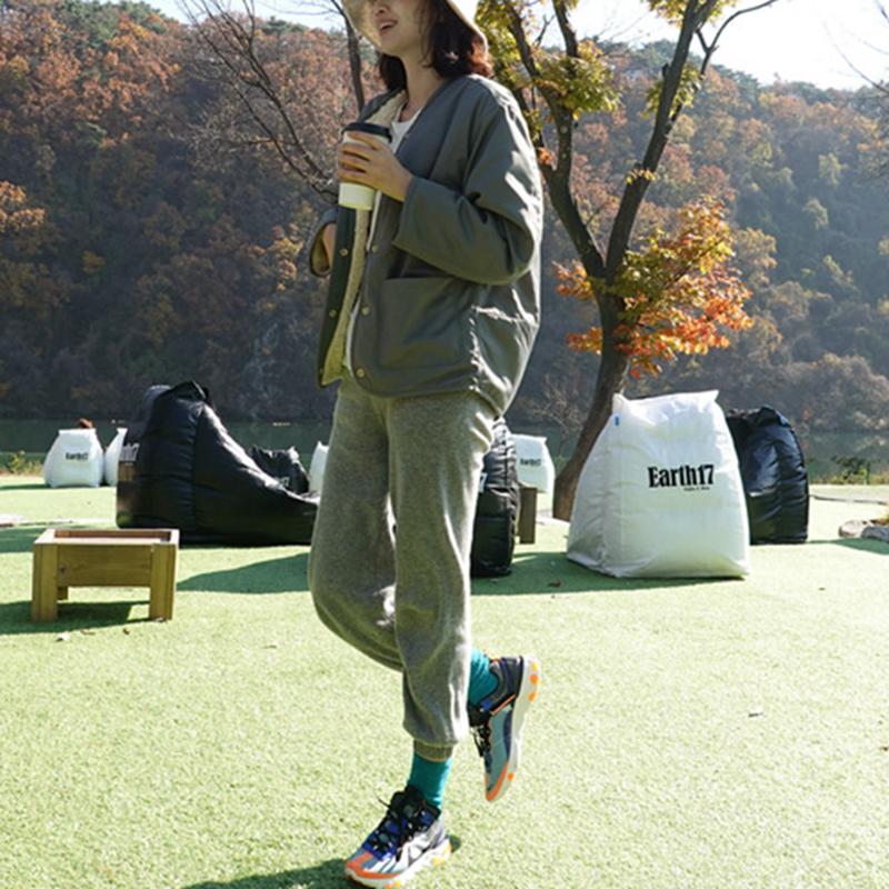 可爱风衣 D21韩国女装新款2020两面穿宽松可爱毛绒冬季女外套保暖风衣防风_推荐淘宝好看的女可爱风衣