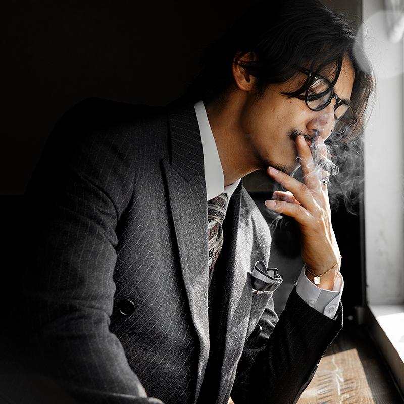 西装男 SOARIN英伦风复古双排扣西装男 商务正装黑色条纹职业装西服外套_推荐淘宝好看的西装男
