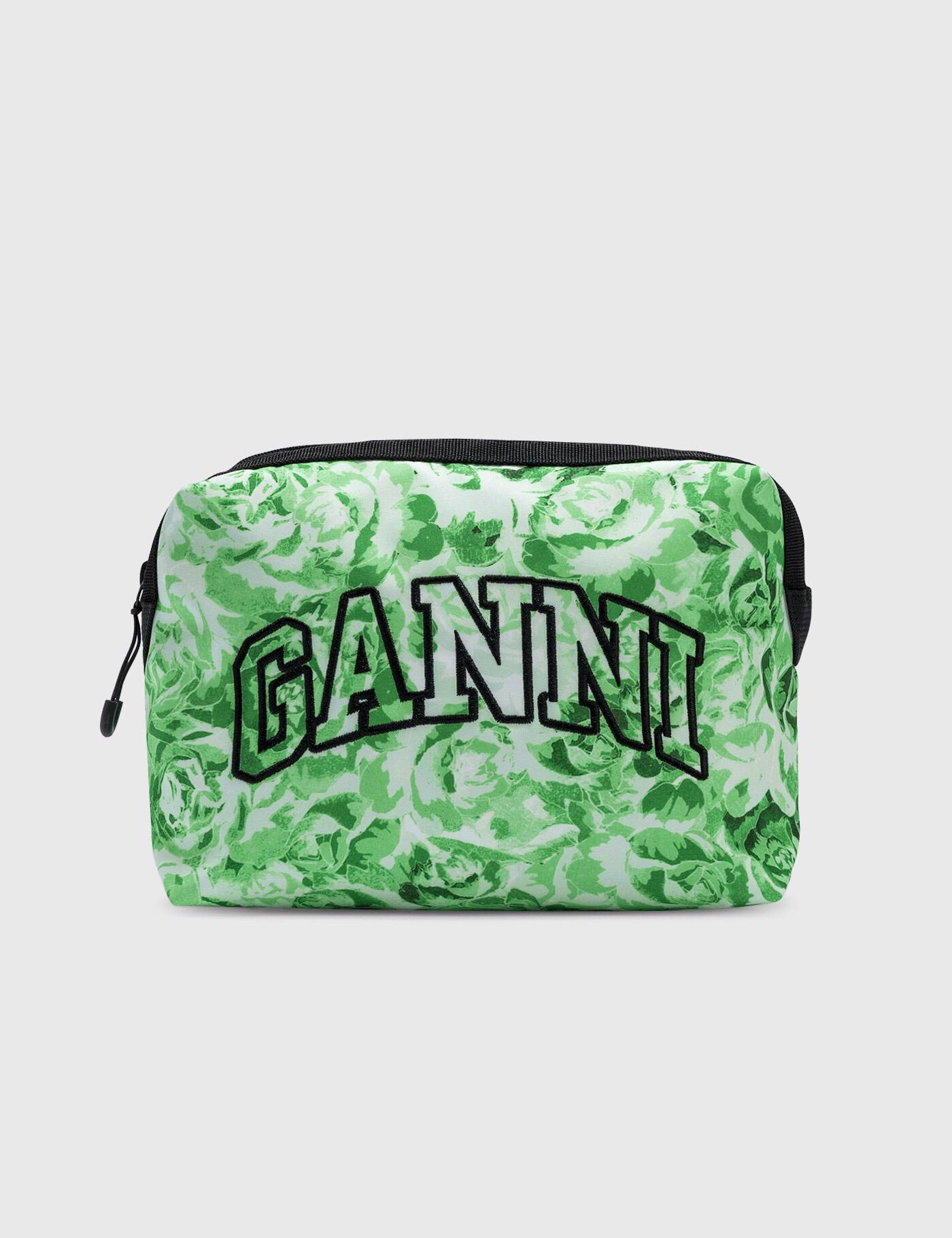 绿色手拿包 GI海外代购 GANNI 21ss新款 绿色字母徽标刺绣 手拿包_推荐淘宝好看的绿色手拿包