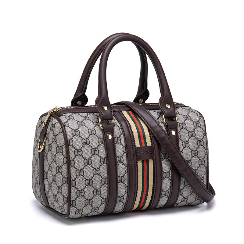 印花手提包 波士顿女包2019新款欧美时尚印花枕头包百搭大容量斜挎手提包潮_推荐淘宝好看的女印花手提包