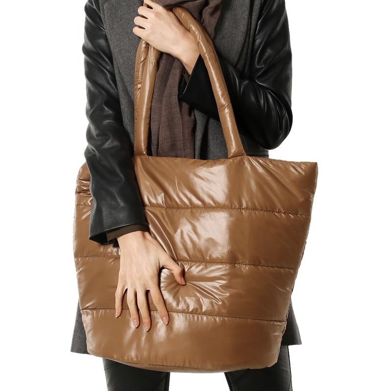欧美手提包 欧美时尚女包尼龙包单肩手提轻便大包羽绒包棉包太空包大容量防水_推荐淘宝好看的女欧美手提包