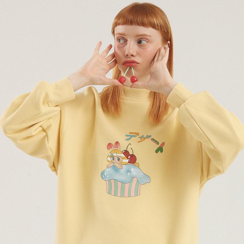 黄色卫衣 推搪小兔PROD春秋季薄款卫衣女连帽2020新款韩版宽松趣味学生外套_推荐淘宝好看的黄色卫衣