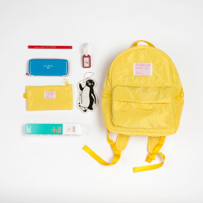 黄色双肩包 NTMY.medium 三明治网布夹层黄色双肩包背包_推荐淘宝好看的黄色双肩包