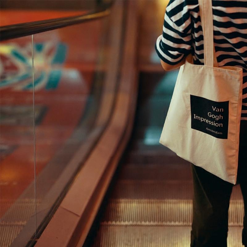 英伦帆布包 载迟原创英伦复古单肩帆布包袋女Van Gogh梵高简约文艺环保袋_推荐淘宝好看的女英伦帆布包