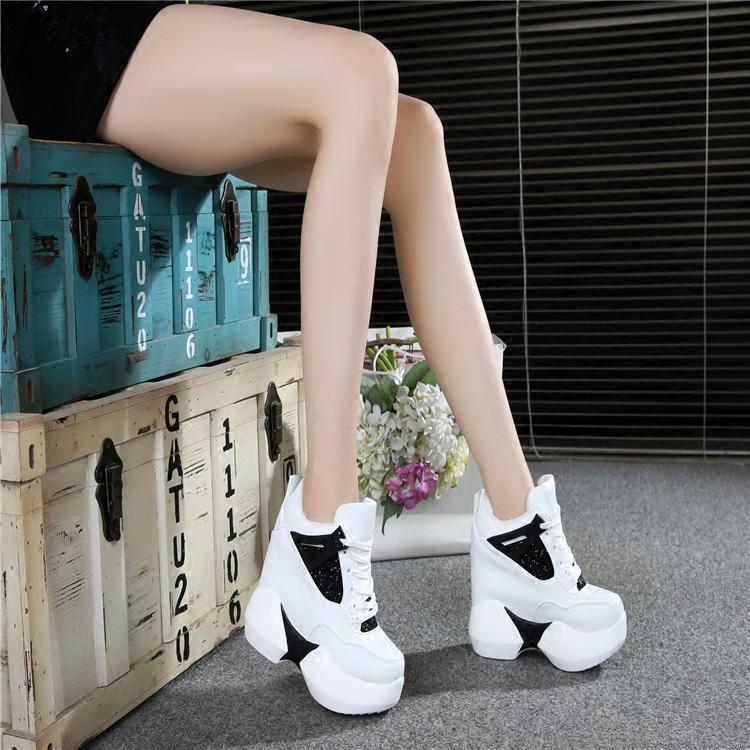 高跟鞋 内增高女鞋 30 31 32 33 34小码 超高跟12CM 冬季 厚底松糕运动鞋_推荐淘宝好看的女高跟鞋